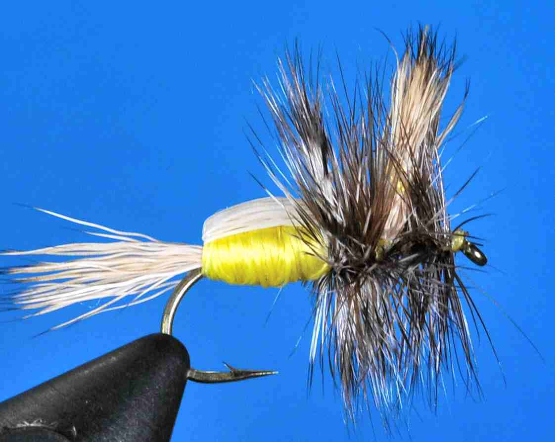 6 Hair wing Goofus Bug Yellow Humpy Size 14 Brookside professionally tied fly